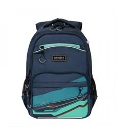 RB-054-2 Рюкзак школьный (/3 темно-синий - зеленый)