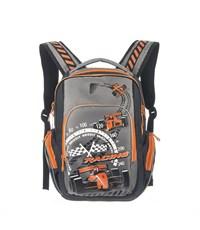 RB-630-1 Рюкзак школьный черный - оранжевый