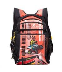 RB-631-1 Рюкзак школьный Grizzly черный - оранжевый