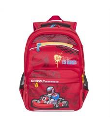 RB-732-2 Рюкзак школьный Grizzly красный