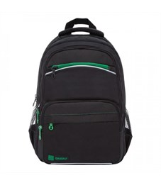 RB-860-2 Рюкзак школьный (/1 черный - зеленый)
