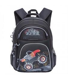 RB-860-6 Рюкзак школьный Grizzly (/3 черный - серый)