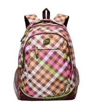 RD-635-2 Рюкзак школьный Grizzly коричневый - салатовый