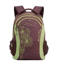 RD-636-1 Рюкзак школьный Grizzly коричневый-салатовый