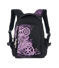 RD-643-2 Рюкзак школьный Grizzly черный-фиолетовый