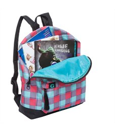 Фото 4. RD-750-6 Рюкзак школьный Grizzly клетка бирюзово-малиновая