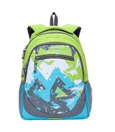 RD-751-1 Рюкзак школьный Grizzly салатовый-голубой