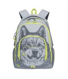 RD-752-1 Рюкзак школьный Grizzly волк