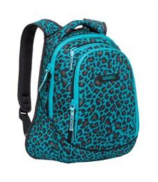 Фото 2. RD-756-1 Рюкзак школьный Grizzly леопард бирюзовый