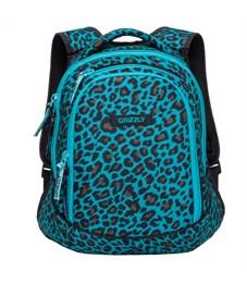 Фото 1. RD-756-1 Рюкзак школьный Grizzly леопард бирюзовый