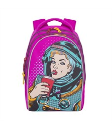 RD-758-1 Рюкзак школьный Grizzly фиолетовый