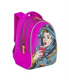 Фото 2. RD-758-1 Рюкзак школьный Grizzly фиолетовый