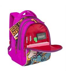 Фото 4. RD-758-1 Рюкзак школьный Grizzly фиолетовый
