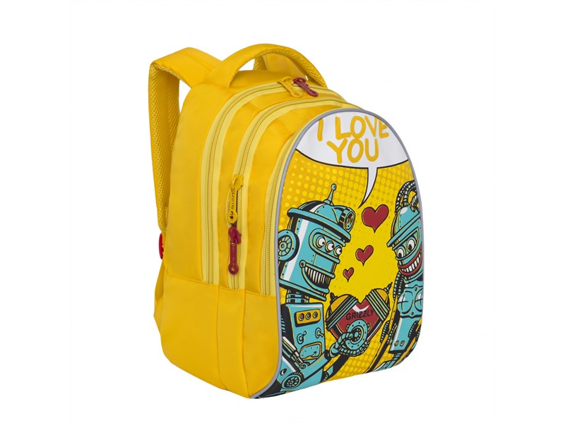 RD-758-1 Рюкзак школьный Grizzly желтый