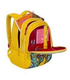 Фото 4. RD-758-1 Рюкзак школьный Grizzly желтый