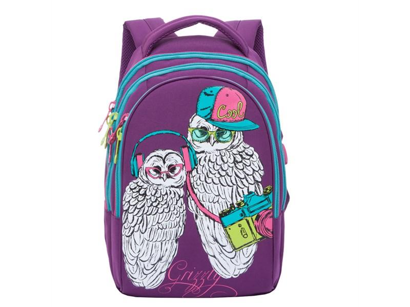26f390280c3f RD-758-3 Рюкзак школьный Grizzly фиолетовый совы