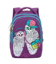 RD-758-3 Рюкзак школьный Grizzly фиолетовый совы