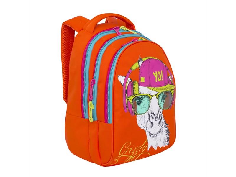 RD-758-3 Рюкзак школьный Grizzly оранжевый