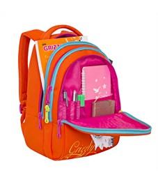 Фото 4. RD-758-3 Рюкзак школьный Grizzly оранжевый