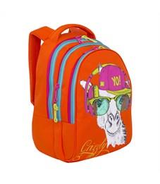 Фото 2. RD-758-3 Рюкзак школьный Grizzly оранжевый