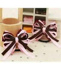 Фото 3. Резинка для волос Розовый бантик с коричневым 2 штуки