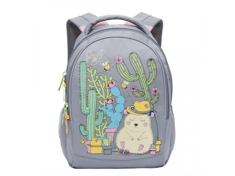 RG-762-1 Рюкзак школьный Grizzly светло-серый