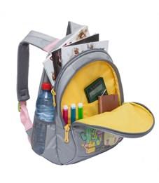 Фото 4. RG-762-1 Рюкзак школьный Grizzly светло-серый