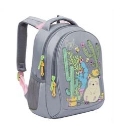 Фото 2. RG-762-1 Рюкзак школьный Grizzly светло-серый