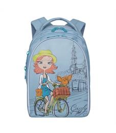 RG-768-1 Рюкзак школьный Grizzly голубой