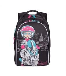 RG-768-3 Рюкзак школьный Grizzly черный