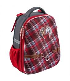 Школьный рюкзак Mike Mar Лошадки т.серый/красный