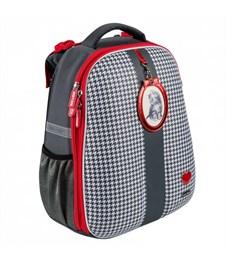 Школьный рюкзак Mike Mar Котенок т.серый/красный кант