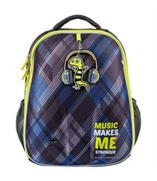 Фото 2. Школьный рюкзак Mike Mar Музыка т.серый/зеленый кант