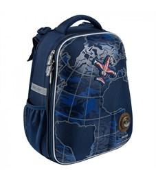 Школьный рюкзак Mike Mar Самолет т.синий