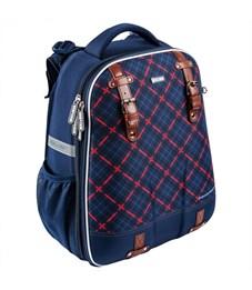 Школьный рюкзак Mike Mar Клетка синий/красный