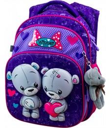 Рюкзак школьный Winner 8047 + брелок-мишка
