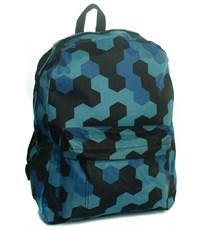 Рюкзак школьный 3D Bags Мозаика синяя