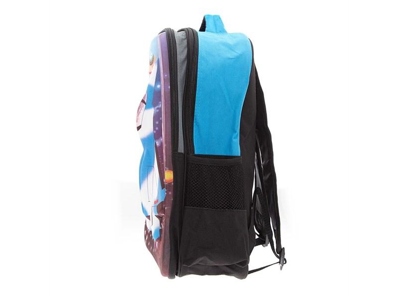 Рюкзак школьный 3D Bags Самолет черный с синим