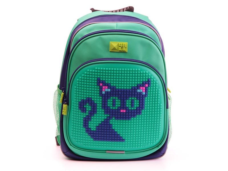 53edcac98463 Рюкзак школьный 4ALL KIDS Синий кот синий-зеленый RK61-08N
