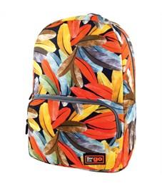 """Рюкзак Berlingo Casual """"Orange"""" 42*29*14см, 1 отделение, 2 кармана, уплотненная спинка"""