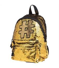 """Рюкзак Berlingo Glam Style """"Glam gold"""" 30*24*12см, 1 отделение, 1 карман, уплотненная спинка"""