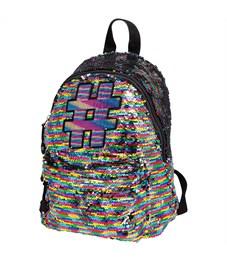"""Рюкзак Berlingo Glam Style """"Glam rainbow"""" 30*24*12см, 1 отделение, 1 карман, уплотненная спинка"""