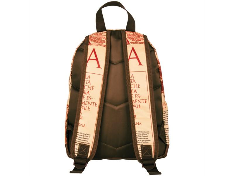 """Рюкзак Berlingo Nice """"Newspaper style"""" 33*28*14см, 1 отделение, 1 карман, уплотненная спинка"""