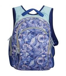 """Рюкзак Berlingo Style """"Lavender blue"""" 39*33*23см, 2 отделения, 3 кармана, эргономичная спинка"""