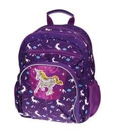 """Рюкзак детский Berlingo """"Cosmo Unicorn"""" 34,5*26*14см, 2 отделения, 4 кармана, уплотненная спинка"""