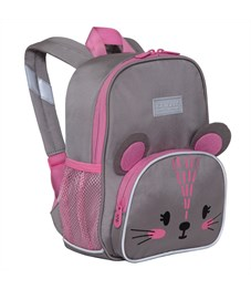 Рюкзак детский Grizzly, 22*28*10см, 1 отделение, 3 кармана, укрепленная спинка, мышка