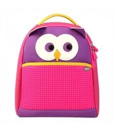 Рюкзак детский пиксельный Upixel Сова The Owl WY-A031 Фиолетовый-фуксия