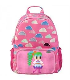 Фото 2. Рюкзак школьный пиксельный Upixel Floating Puff WY-A025 Розовый с рисунком