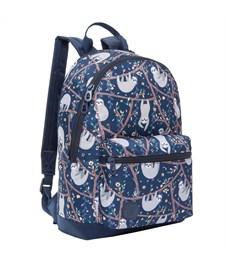 Рюкзак Grizzly, 26*38*12см, 1 отделение, 1 карман, укрепленная спинка, ленивцы
