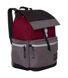 Рюкзак Grizzly, 29*43*15см, 1 отделение, 4 кармана, укрепленная спинка, серый